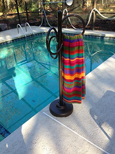 (Outdoor Lamp Company 402BRZ Loop Designer Towel Holder - Bronze)