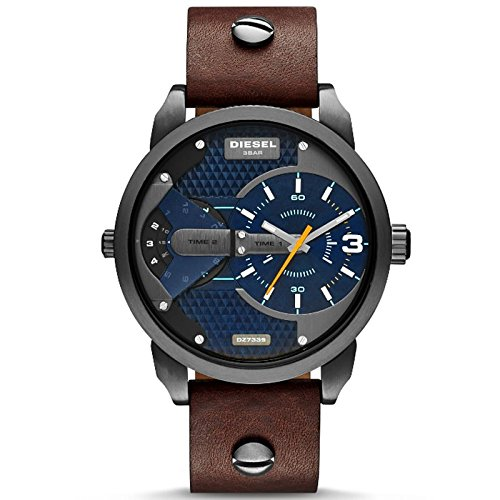 Diesel Men's DZ7339 Mini Daddy Analog Display Analog Quartz Brown Watch