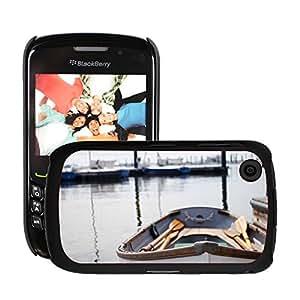 Just Phone Cases Etui Housse Coque de Protection Cover Rigide pour // M00421762 Las paletas bote de remos Barco Mar // Blackberry 8520 9300