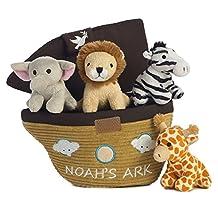 Aurora Noah's Ark-Baby Talk Carrier, (8-Inch Carrier/2-4-Inch Animals) Plush by World