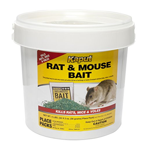 Best Mouse Bait - Kaput Rat Mouse Vole Bait - 32 Place Packs 61305