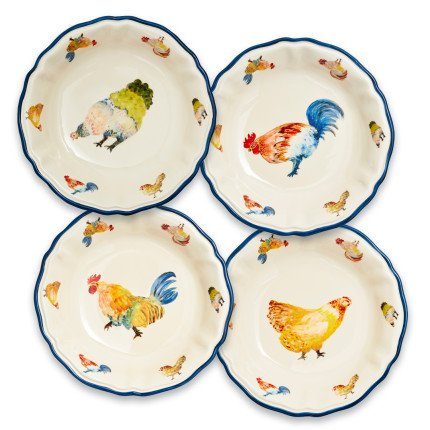 Sur La Table Jacques Pepin Collection Chickens Pasta Bowls, Set of 4 by Sur La Table