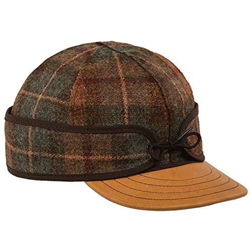 Stormy Kromer Mercantile Original Hat with Deerskin Brim Partridge Plaid, 7 5/8