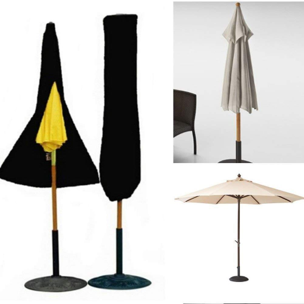 JYW-coverS Furniture Cover, Outdoor Portable Umbrella Parasol Protective Cover, with Zipper 420D Oxford Cloth Waterproof and UV Resistant,Black,2029550cm