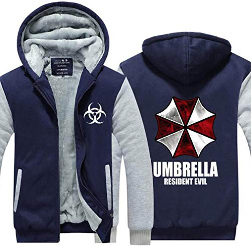 MeiMei Resident Evil Leon Thicken Hoodie Umbrella Logo Jacket Zipper Cosplay Costume (L(Chest118cm/46.4in, A)]()