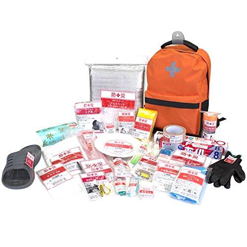 山善(YAMAZEN) 非常用持ち出し袋 簡易避難セット 防災用品 避難リュック 防災グッズ30点セット 一次避難向け YBG-30の商品画像