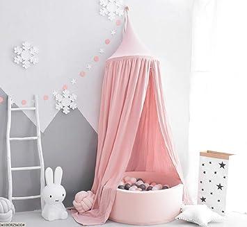 Amazon.com: Kunmuzi - Cama infantil con toldo redondo ...