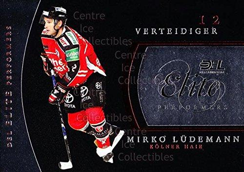 (CI) Mirko Ludemann Hockey Card 2009-10 German DEL Premium Elite Performers 7 Mirko Ludemann (Single City 2009 Elite)