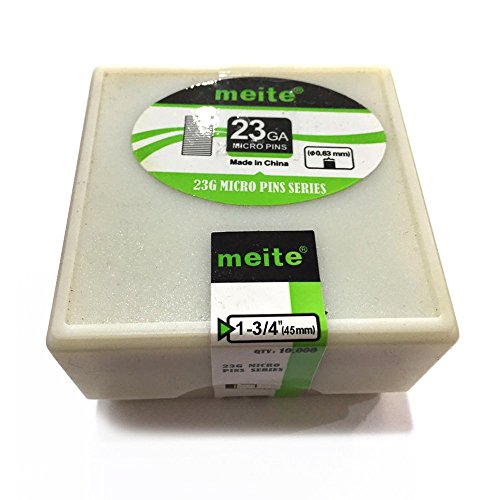 meite 23GP134L 23 Gauge 1-3/4-Inch Length Headless Pins 10,000 PCS/Pack (1-PACK) ()