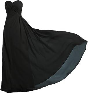 963e6d476b9c ANTS Women's Strapless Long Bridesmaid Dresses Chiffon Wedding Prom Gown