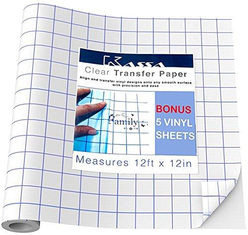 Clear Vinyl Transfer Tape Roll 12 Quot X 30 Feet Clear