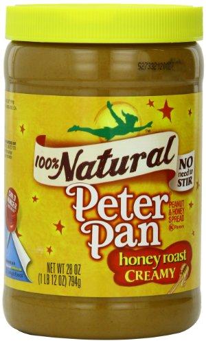 Peter Pan 100% Natural Honey Roast Creamy Peanut and Honey Spread, 28 Ounce Honey Roast