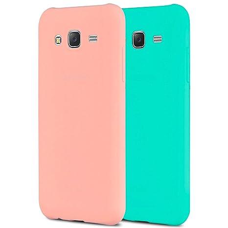 b776fae5afd Anfire 2X Samsung J3 Funda, Carcasa Silicona Gel TPU para Samsung Galaxy J3  2016 J310 Ultra Delgado Suave Protectora Caso Flexible Caja Ligero Back  Case ...