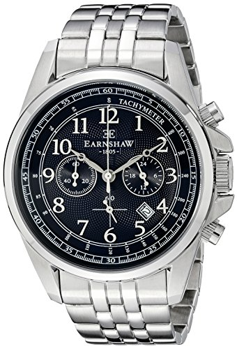 Thomas Earnshaw Men's ES-8028-22 Commodore Analog Display Japanese Quartz Silver Watch