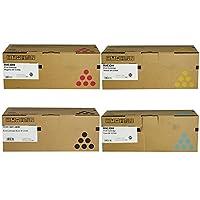 Ricoh 406344, 406345, 406346, 406347 Standard Yield Toner Cartridge Set