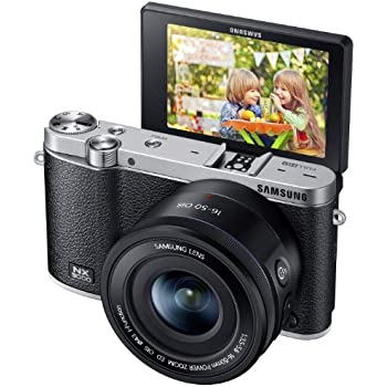 Samsung NX3000 Wireless Smart 20.3MP Mirrorless Digital Camera with 16-50mm OIS Power Zoom Lens and Flash (Black)