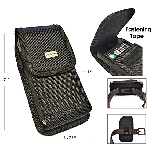 Clip Type Belt (AIScell Metal Belt Clip Holster For Iphone 8 Plus, 7 Plus,6S/6 Plus ~Extra Large Ultra Rugged Pouch Nylon Canvas Case (Fit Phone With Lifeproof,Otterbox Defender,Battery Case,Thick Hybrid Cover))