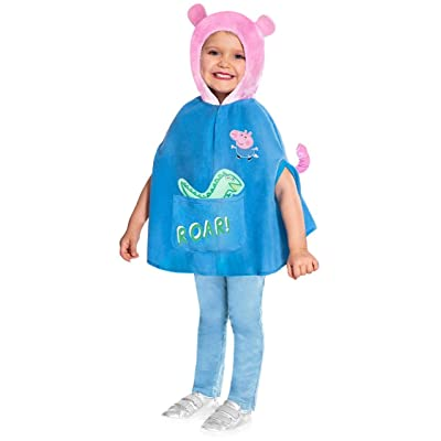 Boys Girls Official Peppa Pig George Pig TV Cartoon Show World Book Day Fancy Dress Costume Outfit 2-6 Years: Clothing