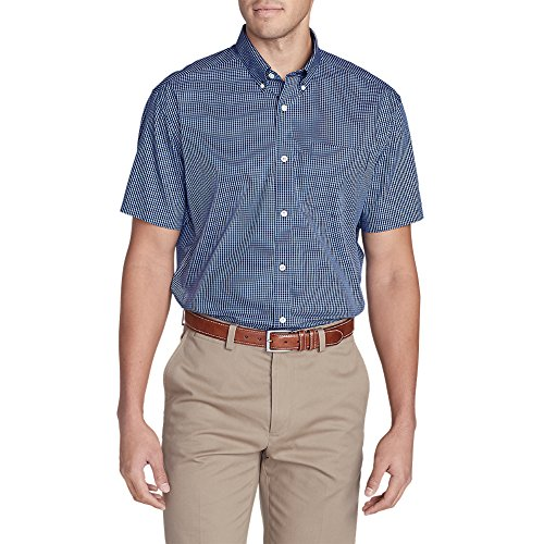 Cheap Eddie Bauer Men's Wrinkle-Free Relaxed Fit Short-Sleeve Pinpoint Oxford Shirt - for cheap