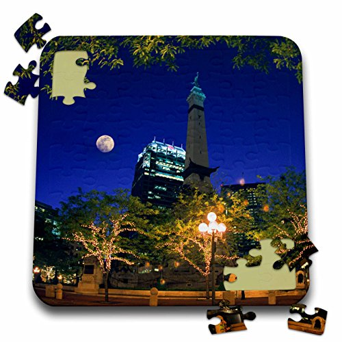 Danita Delimont - Indiana - Indiana, Indianapolis. Circle Monument - US15 AMI0038 - Anna Miller - 10x10 Inch Puzzle (pzl_90224_2)