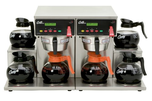 Wilbur Curtis G3 Alpha Decanter Brewer 64 Oz Coffee Brewer, Dual Voltage, 6 Station Twin 6 Lower Warmers - Commercial Coffee Brewer  - ALP6GT63A000 (Each) by Wilbur Curtis
