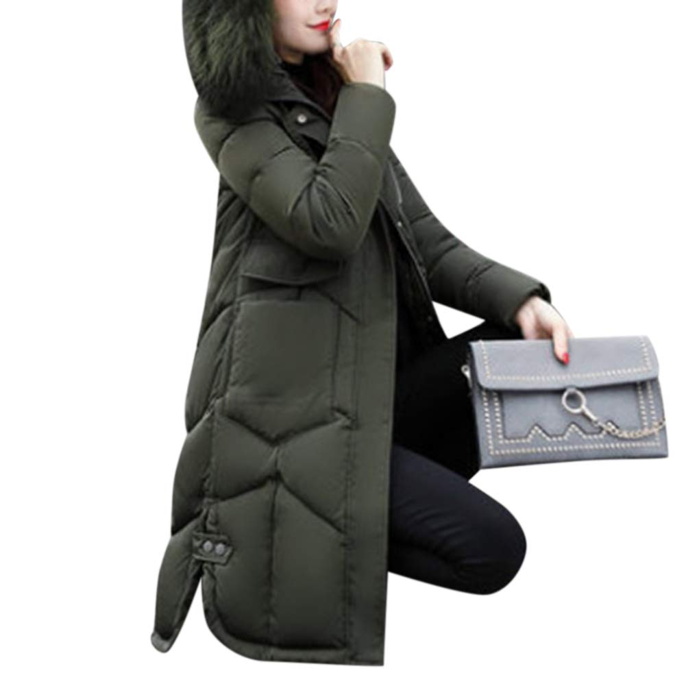 Leoie Winter Jackets for Women Girls Long Hooded Windproof Snow Women Coat