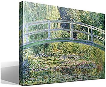 Cuadro Canvas El Puente Japones de Oscar-Claude Monet - Calidad HQ