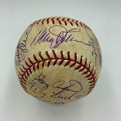 (1986 Mets WS Champs Team Signed Shea Stadium Final Season Game Used Baseball COA - MLB Autographed Game Used Baseballs)