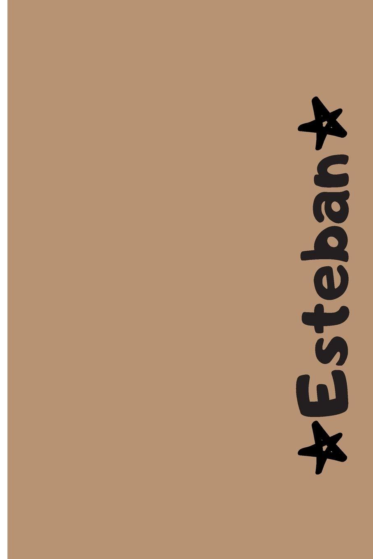 Amazon.com: Esteban: Cuaderno Con Portada Personalizada ...
