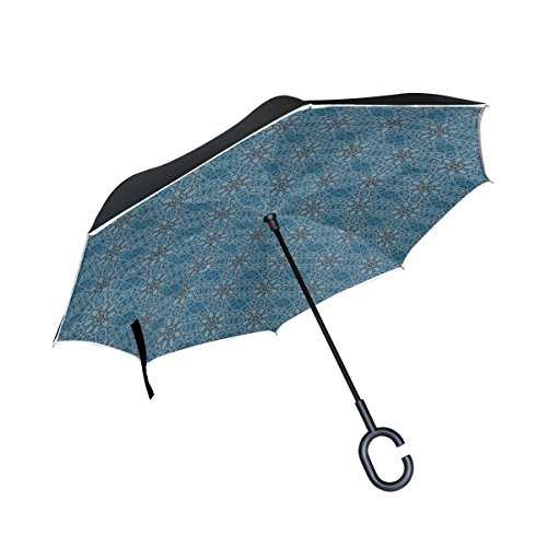afc707e2a DNOVING Double Layer Inverted Image Pattern Tile Texture Umbrellas Reverse  Folding Umbrella Windproof Uv Protection Big