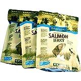 Alaska Wild Caught Salmon Jerky Dog Treats - 3-Pack (Cats love em too) - All Natural - Gluten Free