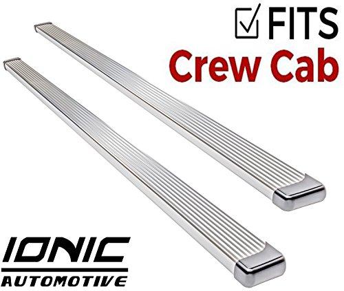 Crew Cab Billet - Ionic Billet Brite Running Boards 2011-2018 Chevy Silverado GMC Sierra Crew Cab 2500/3500 Diesel Engine