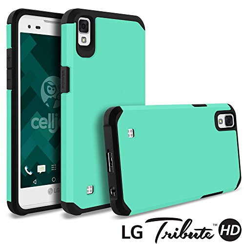 LG Tribute HD Case, LG X Style Case, Celljoy [Liquid Armor] (Metallic Teal) LG LS676 Slim Fit [Dual Layer Series] TPU Protective Hybrid [[Shockproof]] - Thin Hard Cover