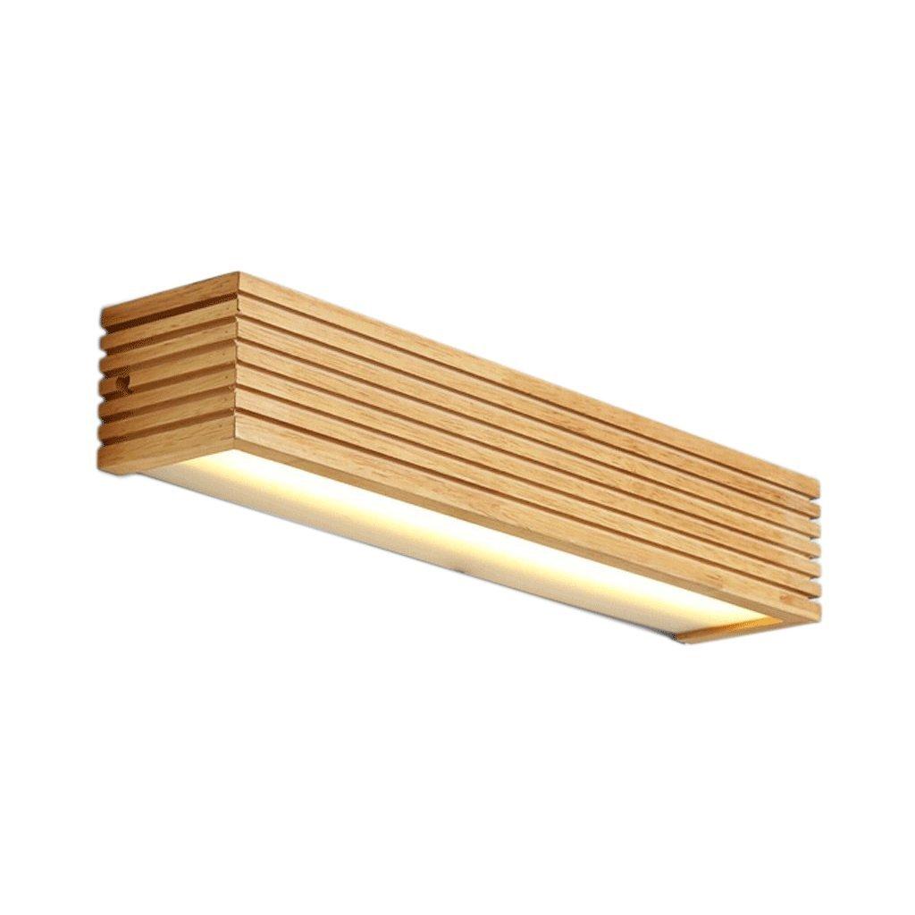 JJJJD LED-Massivholz-Wandleuchte, Holzspiegel-Frontleuchte, wasserdichtes Holz, Badezimmerspiegel-Frontleuchte (Größe   16w55cm)