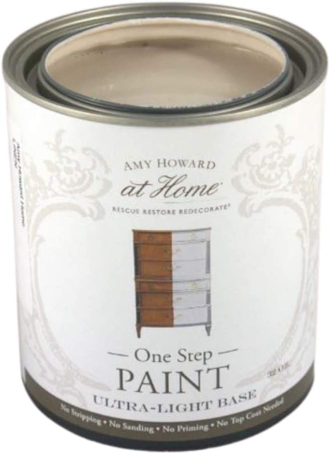 Amazon Com Amy Howard Home One Step Paint Linen Chalk Finish Paint Zero Vocs Eco Friendly No Stripping Sanding Or Priming Multi Surface Furniture Cabinet Paint Home Improvement