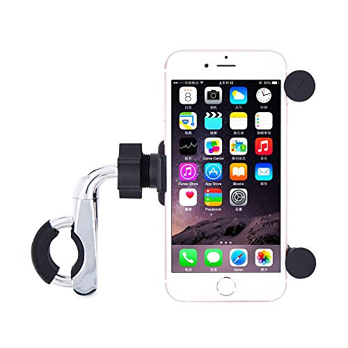 Waterproof Motorcycle Phone Mount with QC 3.0 USB Charger Socket Motorcycle Handlebar Charger Compatible with Samsung iPhone phones meetou