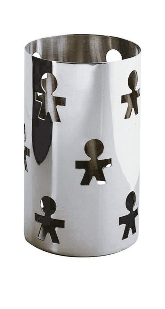 Alessi Girotondo AKK09 Design Breadstick holder with Open-work Decoration Stainless Steel, Mirror Polished