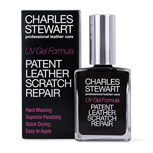 CHARLES STEWART PATENT LEATHER SCRATCH REPAIR & RESTORE UV GEL FORMULA – BLACK