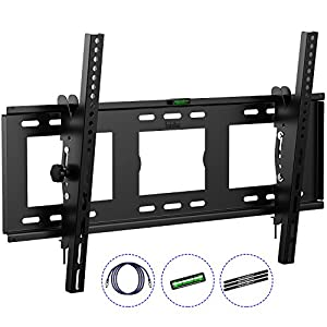 HeraclesMount Slim Tilt TV Wall Mount Bracket For 30-75″ LED LCD Plasma 3D Curved Flat Screen Televisions With 1 – HERACLESMOUNT WALL MOUNT BRACKET