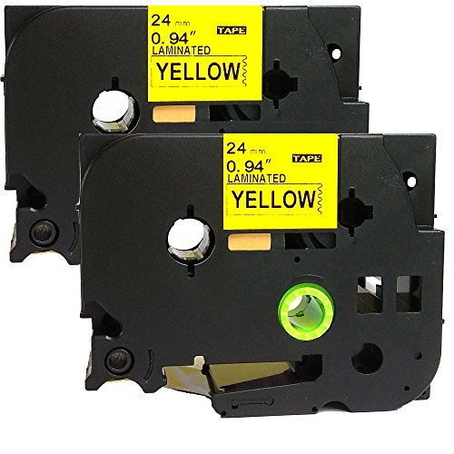 Labelling Pt Machine 2700 (NEOUZA 2PK Compatible For Brother P-Touch Laminated TZe TZ Label Tape 24mm x 8m (TZe-651- Black on Yellow))