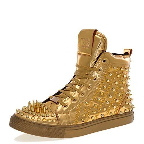 ZENO High Top Sneaker Gold 11 D US Men ()
