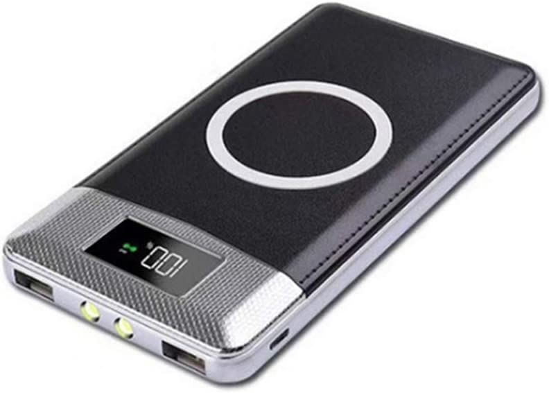 MYYING ELE Qi Wireless Power Bank 10000MAH,High Capacity Charger External Battery Pack with LED Digital Display,Compatible with iPhone XR/XS/XS MAX/X and More Devices, Black: Amazon.es: Deportes y aire libre