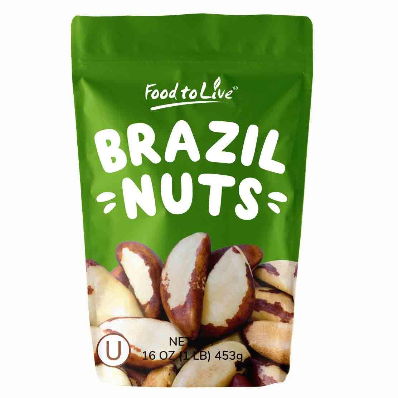 Brazil Nuts, 1 Pound - Raw, No Shell, Kosher