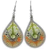 Art of Thread Earrings (Lime)