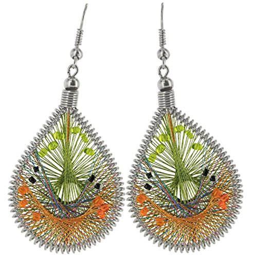 Art of Thread Earrings (Lime) by GreaterGood