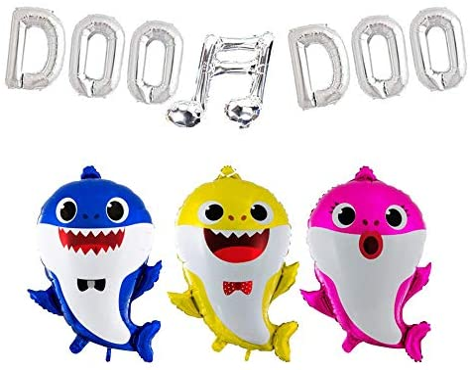 Amazon.com: Globos de cumpleaños con diseño de tiburón para ...