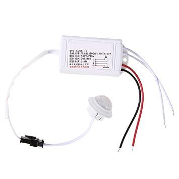 prettygood7 - Módulo de Sensor de Infrarrojos para Sensor de Movimiento (Infrarrojos, luz Inteligente