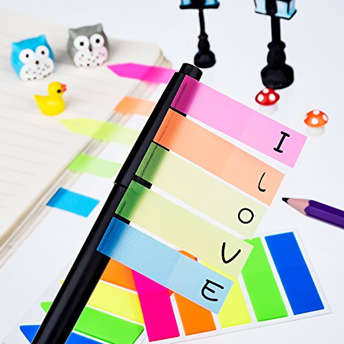 Antner 12 Sets Neon Page Markers Colored Index Tabs Flags Sticky Notes for Page Marker, 1200 Pieces Photo #5
