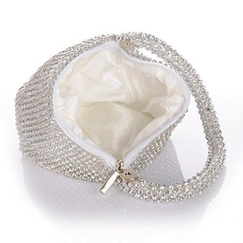 Main YA Bling Mariage Dames NA JIAN Sac Triangle Prom À pour Main Party Femmes De À Conception Argent Pochette Argent Glitter Sac Soirée Purse nUYqddZW