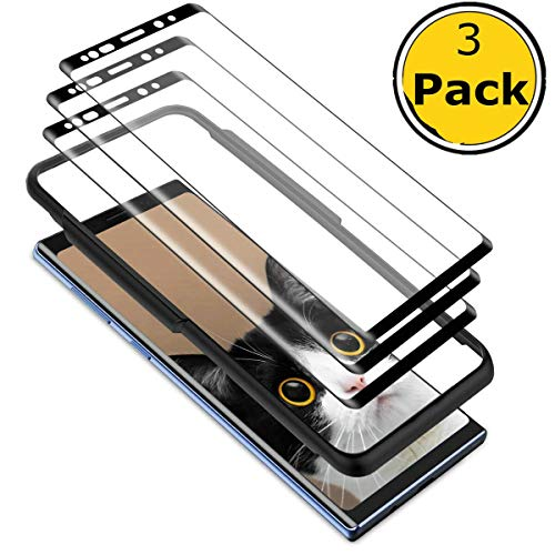 Sibes [3 Pack] for Samsung Galaxy Note 9 Screen Protector, Tempered Glass [Case Friendly][Alignment Frame Easy Installation][3D Curved][Full Coverage][Install The Framework]